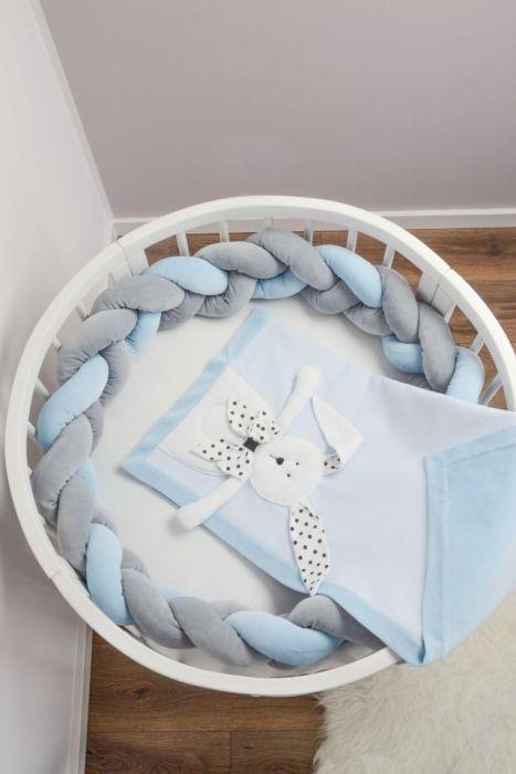 Pleciony ochraniacz do łóżeczka WARKOCZ
