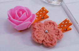 spinki handmade 2 szt. kwiatki6
