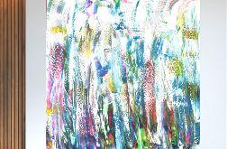 Akrylowy obraz do salonu 100x100