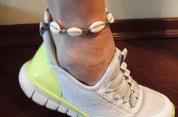 Bransoletka na nogę Muszelki Kauri - model 1