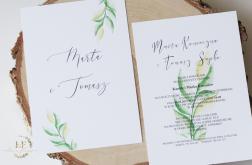 Zaproszenia na ślub Greenery