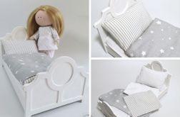 Białe łóżko dla lalki
