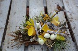 stroik Wielkanocny z ptaszkiem na patyku