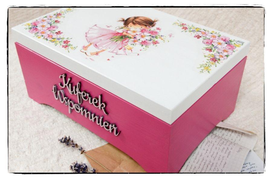 Kuferek Wspomnień, dziewczynka z kwiatami A4