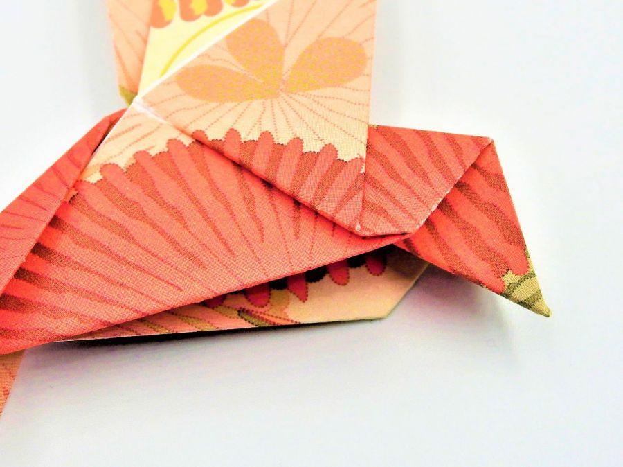 Magnes na lodówkę origami ptaszek rózowo-żółty - 4
