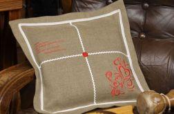 """Dekoracyjna powłoczka na poduszkę """"O miłości"""""""