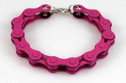 Różowa - rowerowa bransoletka