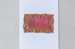 Kartka świąteczna złote gwiazdki nr 2