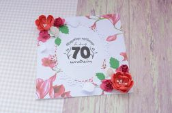Kartka 70 urodziny + koperta