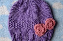 Zimowa czapka romantic jasny fiolet