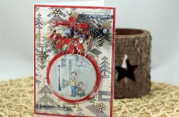 Kartka na Boże Narodzenie z grafiką