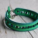 Bransoletka wąska zielona - bransoletka może być doskonałym prezentem dla Ciebie lub bliskie osoby