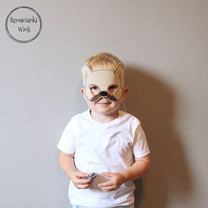 Maska dla dzieci i dorosłych - PIES/SZCZENIAK - Maska pies/szczeniaczek 4