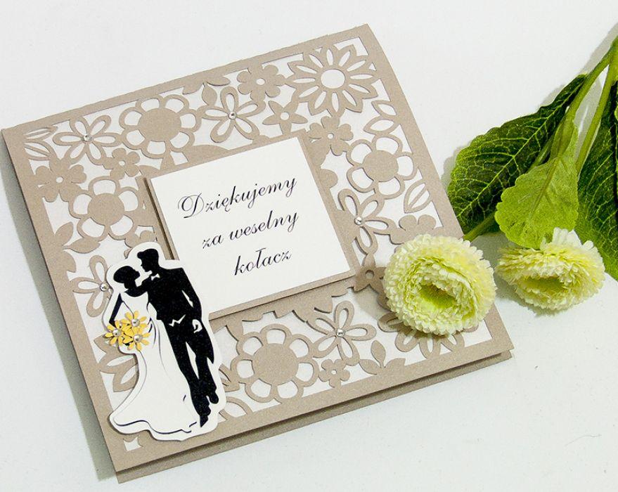 Ogromny Kartka podziękowanie za weselny kołacz - Lukata HS47