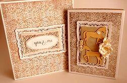 Komplet kartka ślubna w pudełeczku z albumem