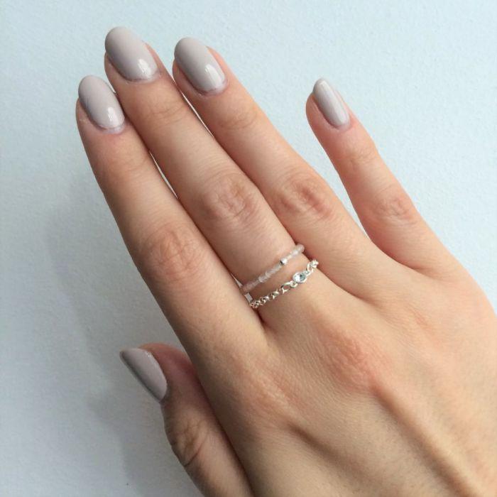 Seven Heaven silver pierścionek na łańcuszku