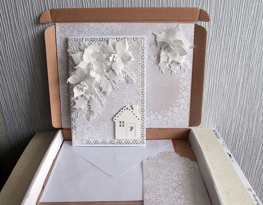 Kartka w bieli - Kartka w pudełku