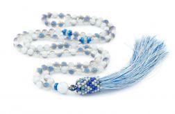 Długi naszyjnik Mala chwost szaro niebieski