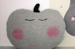 Poduszka,przytulanka jabłko-dzianina dresowa .