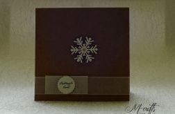 Śnieżynka...Kartka świąteczna