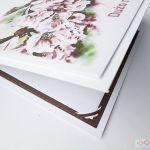 Kartka ŚLUBNA z grafiką - różowe kwiaty - Kartka z kwiatową grafiką z okazji ślubu