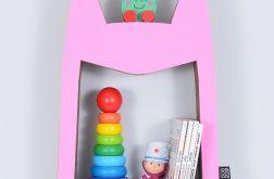 Półka na książki zabawki HERO | różowy