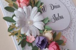 Kartka z BUKIETEM ślubnym