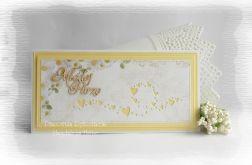 Pamiątka ślubna z serduszkami