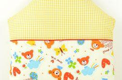 Poduszka dla dziecka 40x40 Domek misia