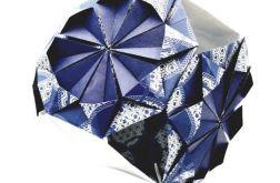 Bombka origami kusudama z papieru granatowa