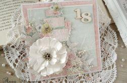 Osiemnaste Urodziny - kartka w pudełku.
