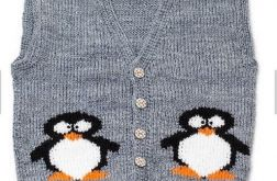 kamizelka z pingwinkami
