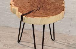 Stolik kawowy plaster drewna klon żywica