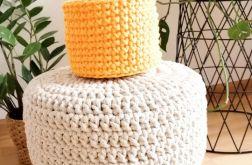 Koszyk 12x11cm, sznurek bawełniany,żółty.