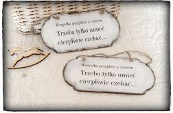 ~Od Ani~ Szyld Cytat Motto Tabliczka z napisem