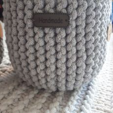 Koszyk ze sznurka osłonka na doniczkę