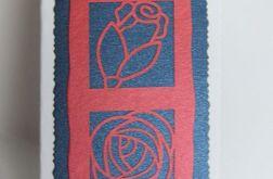 Kartka-kwiaty bordowe
