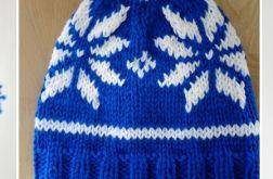 Knitting Colorful Hats- Niebieska czapka w norweskie wzory