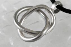Zaplątany - srebrny wisior 180206-01