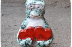 Zakochany żabiusz dwa serca