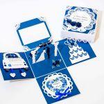 Kartka - pudełko z okazji ślubu - kartki ręcznie robione