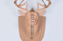 GŁOWA jelenia TROFEUM ozdoba 3D poroże XL