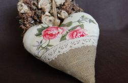 Serce Angielskie róże i len