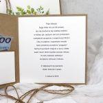 Kartka na ślub eko minimalistyczna w pudełku - Kartka na Ślub w pudełku eko zielona minimalistyczna (2)