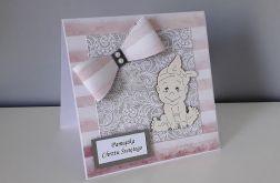 Kartka na Chrzestkokardka dla dziewczynki