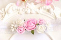 Nomma Opaska niemowlęca CHRZEST kwiatki 021