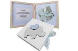 Pamiątka Chrztu Świętego, pudełko na pieniądze- Pp01