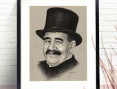 Portret mężczyzny ze zdjęcia na zamówienie