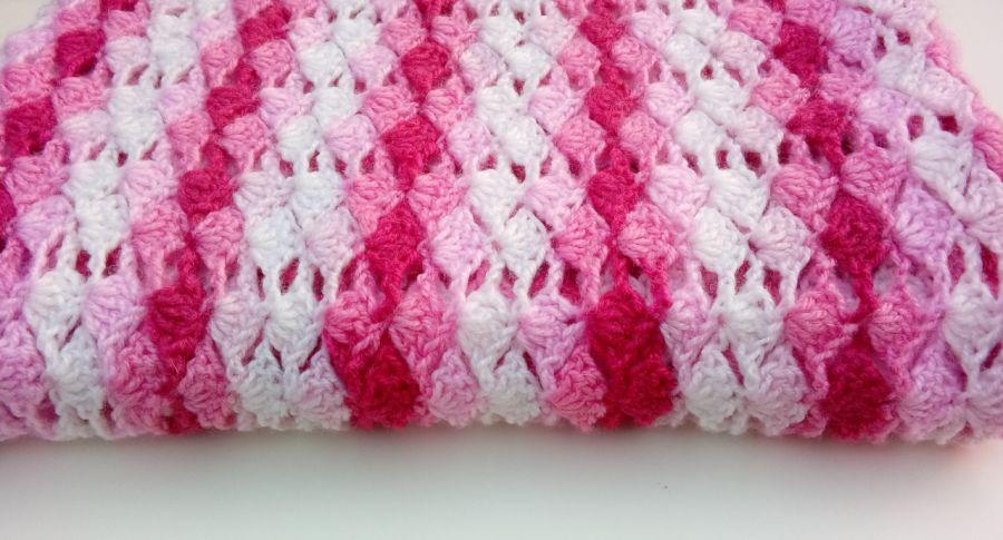 Kocyk różowy melanż - narzuta