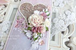 Ślubna kartka w pudełku 256